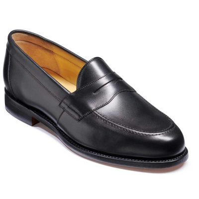 Barker Portsmouth Shoes - Penny loafer - Black Calf