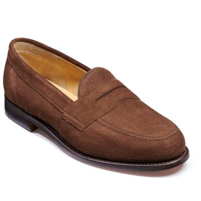 Barker Portsmouth Shoes - Penny loafer - Brown Suede
