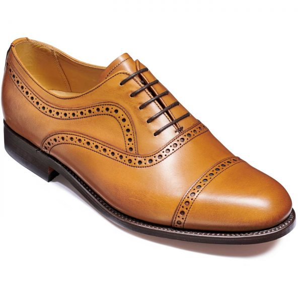 Barker Southampton Shoes - Oxford Semi Brogue - Cedar Calf