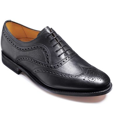 Barker Southport Shoes - Oxford Brogue - Black Calf
