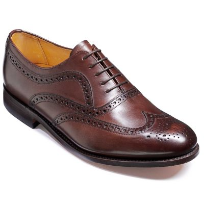 Barker Southport Shoes - Oxford Brogue - Dark Walnut Calf