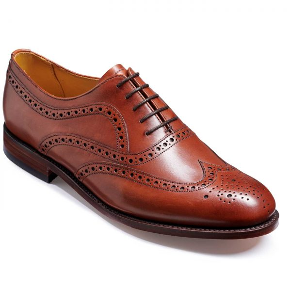Barker Southport Shoes - Oxford Brogue - Rosewood Calf