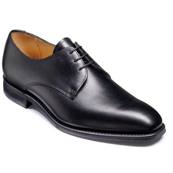 Barker St. Austell Shoes - Plain Fronted Derby - Black Calf