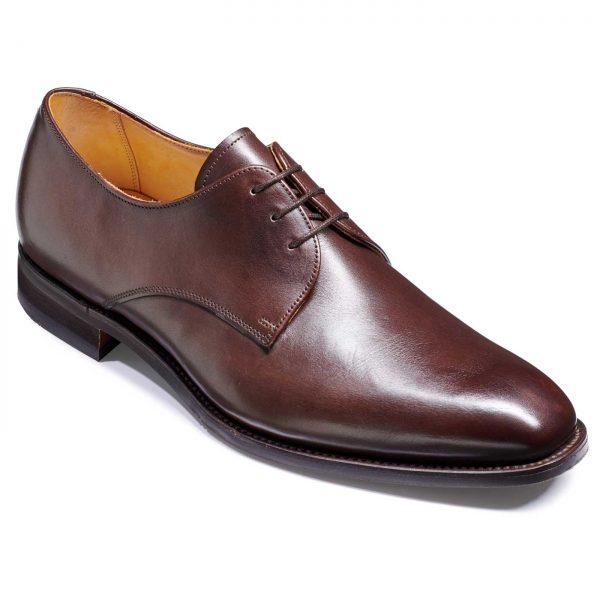Barker St. Austell Shoes - Plain Fronted Derby - Dark Walnut Calf