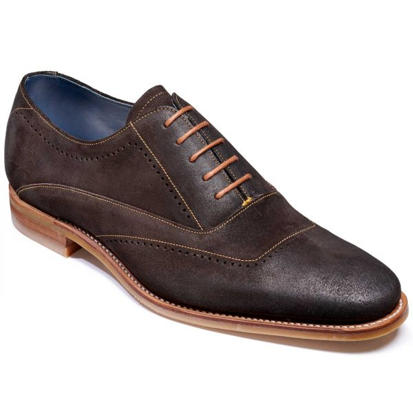 Barker Thomas Shoes - Oxford Style - Bitter Choc Suede