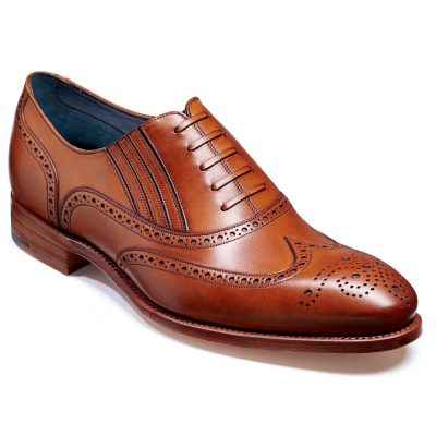 Barker Timothy Shoes - Oxford Brogue - Rosewood Calf
