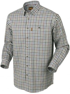HARKILA Shirt - Mens Milford Fine Twill Cotton - Burgundy Check