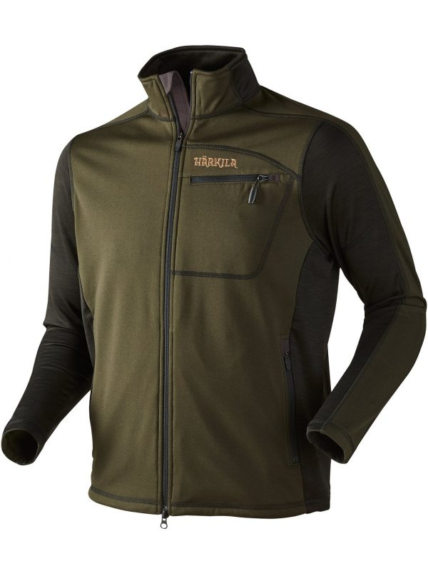 HARKILA Jacket - Mens Vestmar Hybrid Fleece - Rifle Green Melange