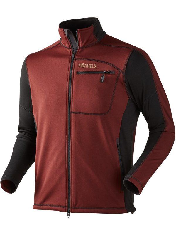 HARKILA Jacket - Mens Vestmar Hybrid Fleece - Syrah Red Melange