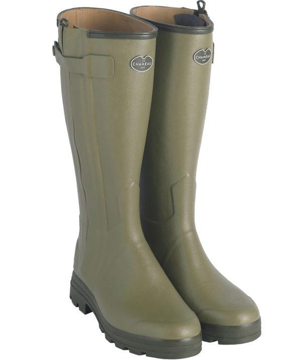 Le Chameau - Men's Chasseur Leather Lined Boots - Vert Vierzon