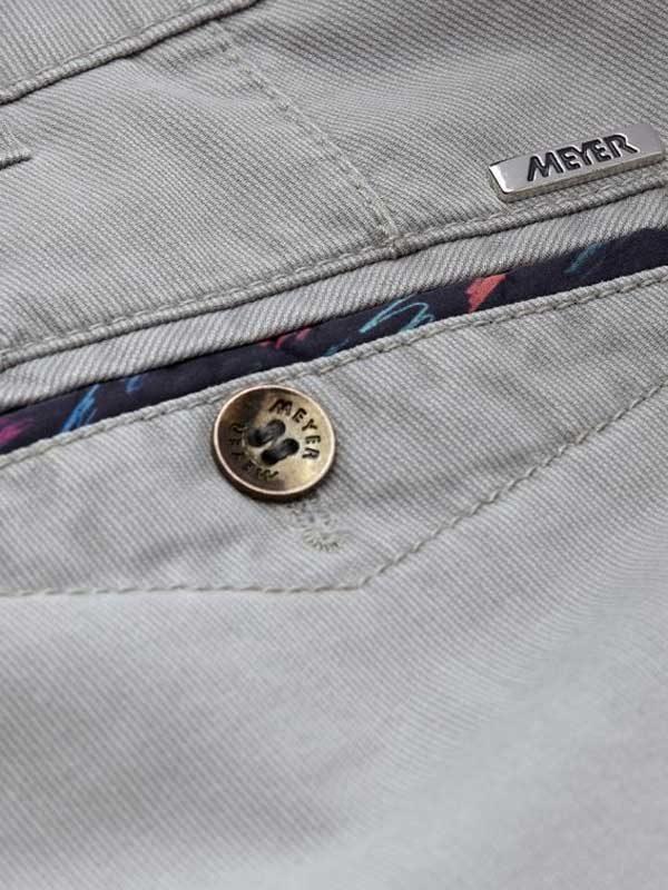 Meyer Chicago 5013 Summer Cotelé Chinos - Grey