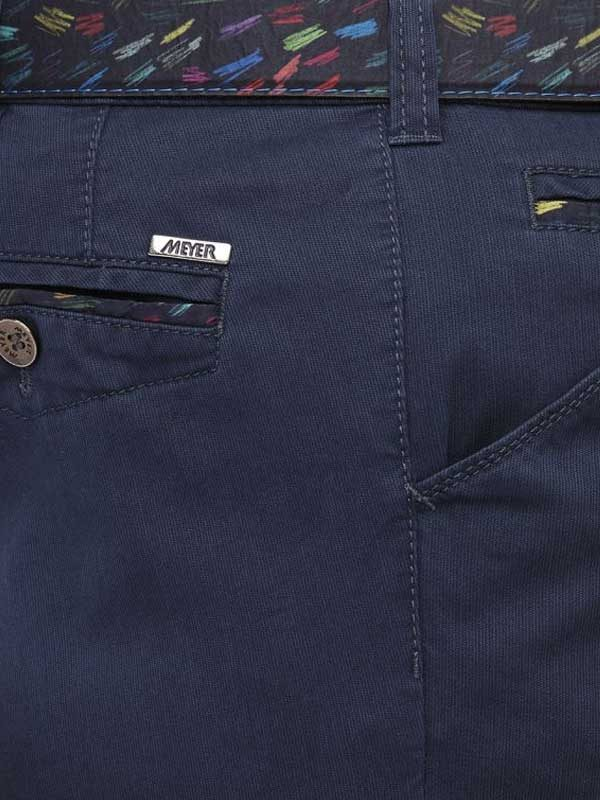 Meyer Chicago 5013 Summer Cotelé Chinos - Navy