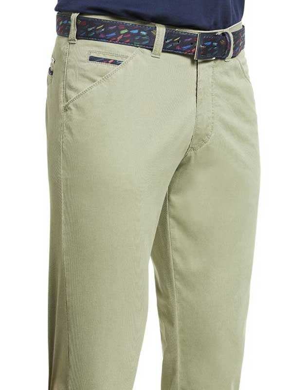 Meyer Chicago 5013 Summer Cotelé Chinos - Olive
