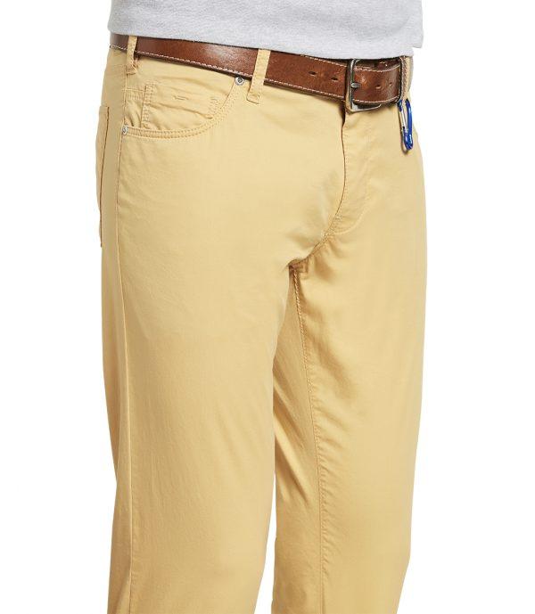 Meyer Chinos - M5 Slim - 6111 Super-Stretch Light Pima Cotton Jeans - Corn