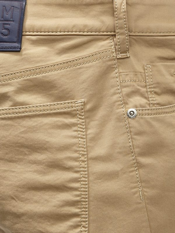 Meyer Chinos - M5 Slim - 6111 Super-Stretch Light Pima Cotton Jeans - Sand