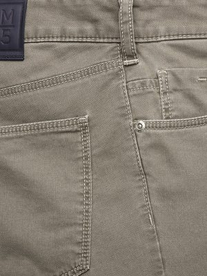 Meyer Chinos - M5 Slim - 6115 Hand Finished Lightweight Cotton Jeans - Beige