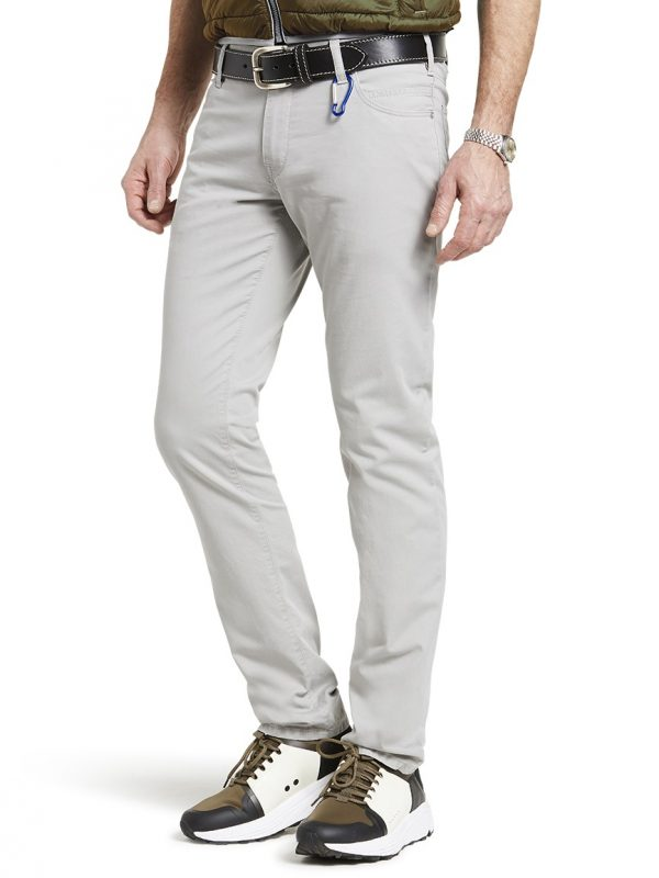 Meyer Chinos - M5 Slim - 6115 Hand Finished Lightweight Cotton Jeans - Grey