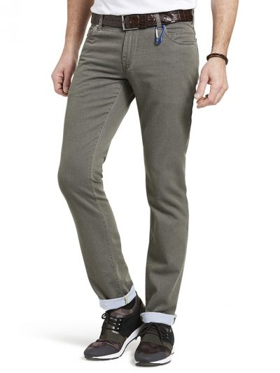 Meyer Chinos - M5 Slim - 6117 Hand Finished Five Pocket - Beige