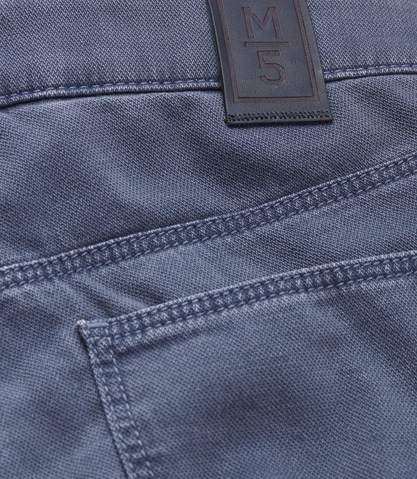 Meyer Chinos - M5 Slim - 6117 Hand Finished Five Pocket - Navy