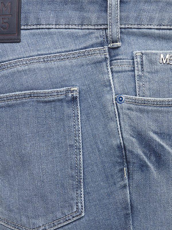 Meyer Jeans - M5 Skinny - 6221 Super-Stretch Diagonal Denim - Light Blue Stone