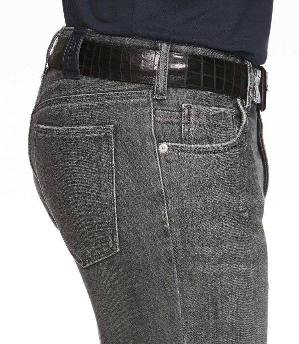 Meyer Jeans - M5 Slim - 6211 Hand Finished Super-Stretch Diagonal Denim - Grey
