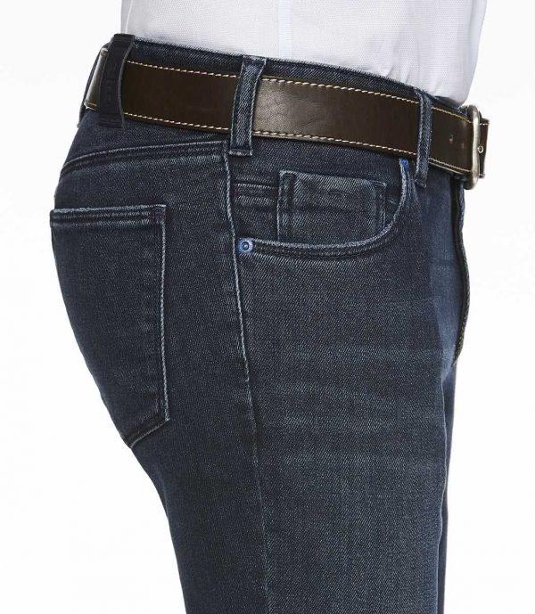 Meyer Jeans - M5 Slim - 6211 Hand Finished Super-Stretch Diagonal Denim - Overdyed Blue