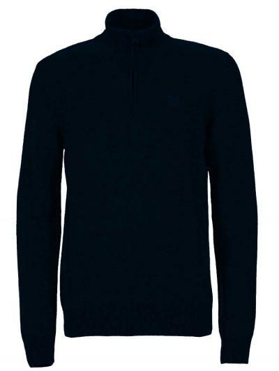 AIGLE Jumper - Gontab Half Zip Sweater - Dark Navy