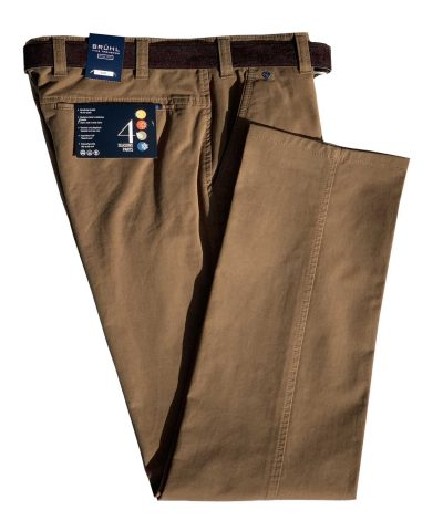BRUHL Trousers - Catania B Cotton Chinos - Camel