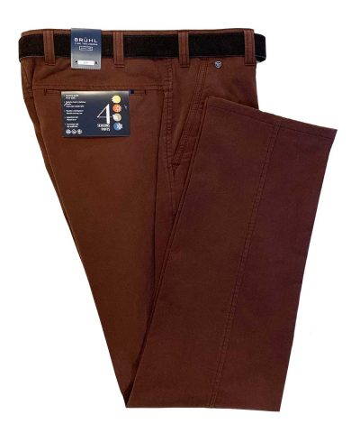 BRUHL Trousers - Catania B Cotton Chinos - Classic Red