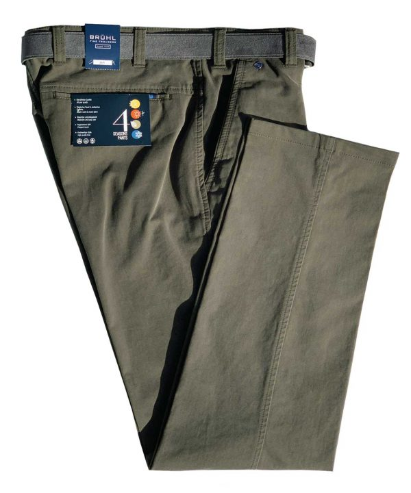 BRUHL Trousers - Catania B Cotton Chinos - Green