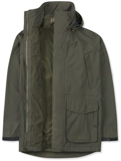 MUSTO Shooting Jacket - Mens Fenland BR2 Lined Packaway - Dark Moss