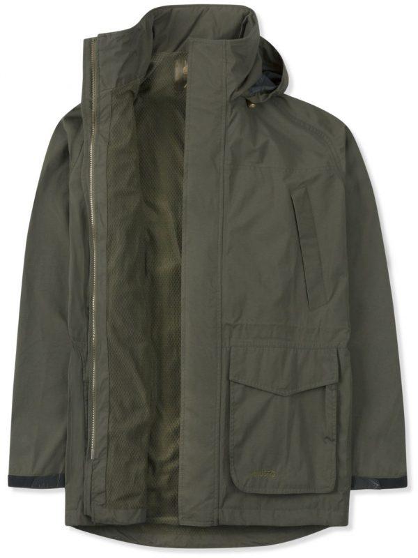 MUSTO Shooting Jacket - Mens Fenland BR2 Lined Packaway - Dark Moss