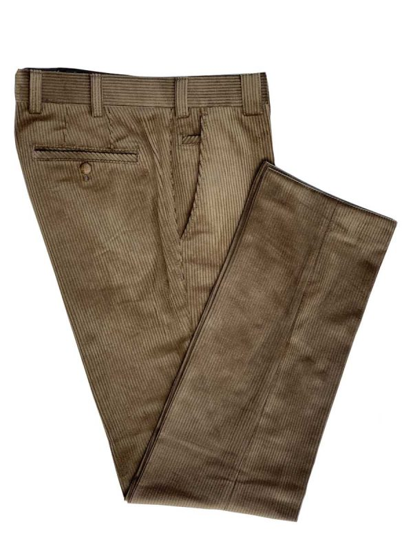 MEYER Cords - Mens Roma 437 Luxury Cotton Corduroy Trousers - Gold