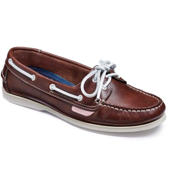 Barker Cleo - Ladies Deck Shoes - Brown Calf