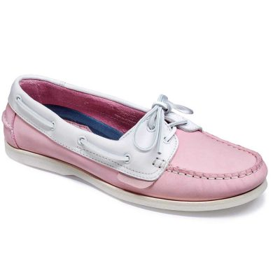 Barker Cleo - Ladies Deck Shoes - Pink / WhiteCalf