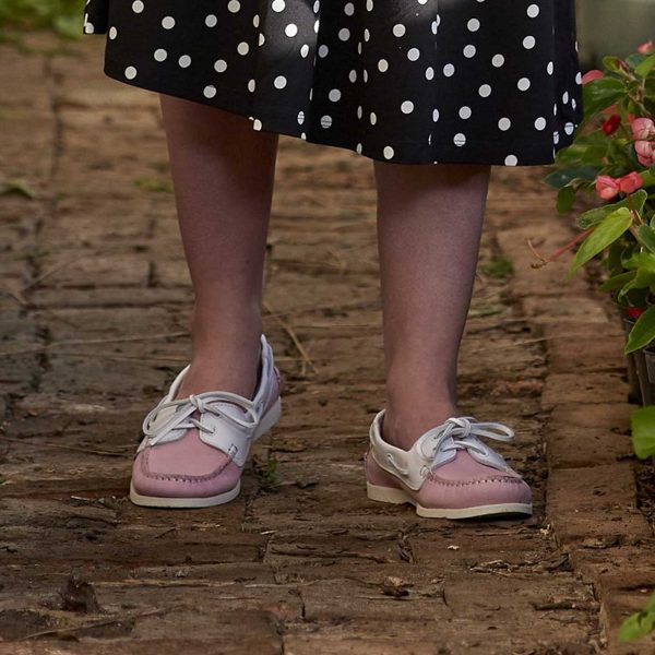 Barker Cleo - Ladies Deck Shoes - Pink / WhiteCalf