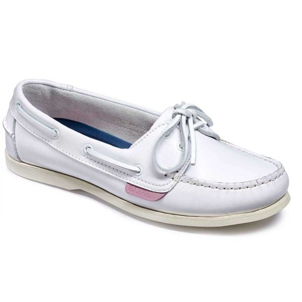 Barker Cleo - Ladies Deck Shoes - White Calf