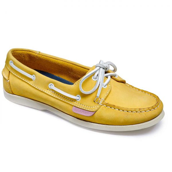 Barker Cleo - Ladies Deck Shoes - Yellow Calf