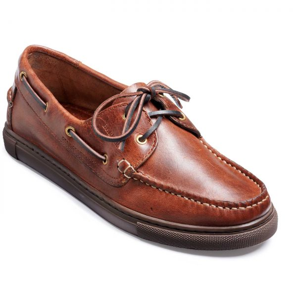 Barker Henri Boat Shoe - Brown Calf