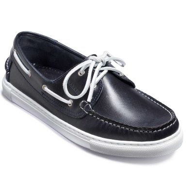 Barker Henri Boat Shoe - Navy Calf
