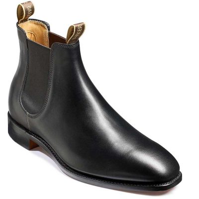 Barker Boots - Mens Mansfield Chelsea - Black Calf