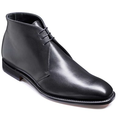 Barker Montgomery Boots - Derby Chukka - Black Calf