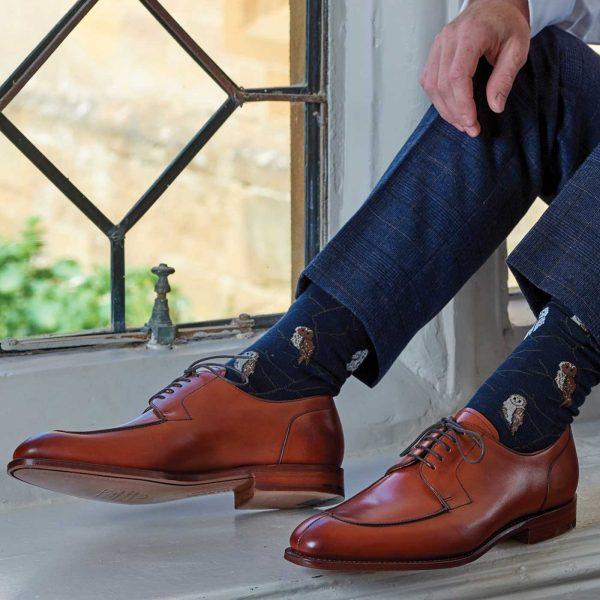 Barker Montrose Shoes - Split Toe Derby - Antique Rosewood Calf