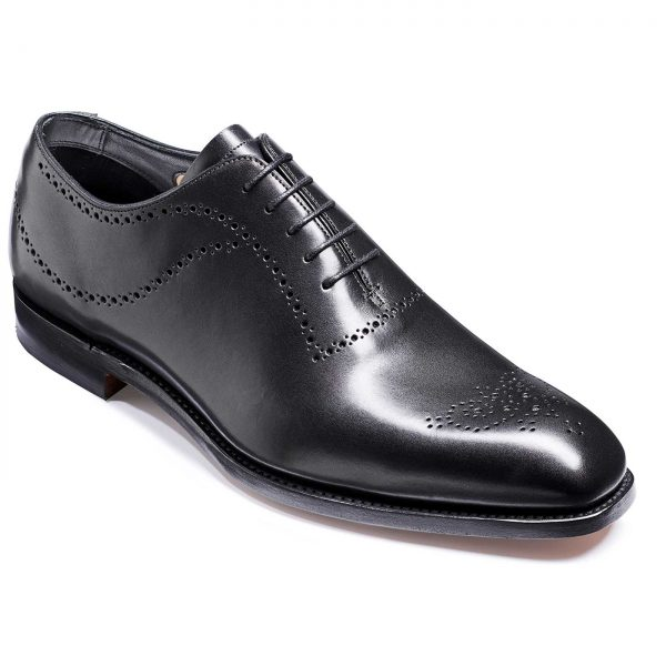 Barker Plymouth Shoes - Oxford Whole Cut- Black Calf