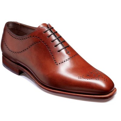 Barker Plymouth Shoes - Oxford Whole Cut- Chestnut Calf