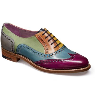 Barker Shoes - Ladies Fearne Brogues - Multi Coloured Hand-Painted