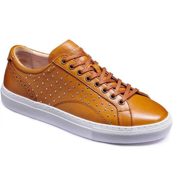 Barker Shoes - Ladies Isla Sneakers - Cedar / Metal Studs