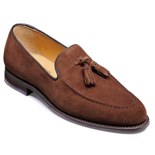 Barker Studland Shoes - Tassel loafer - Castagnia Suede