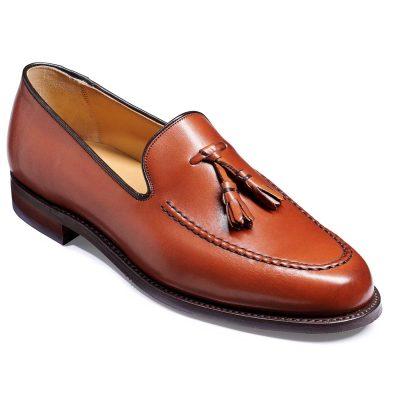 Barker Studland Shoes - Tassel loafer - Rosewood Calf