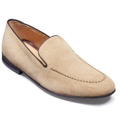 Barker Swanage - Slip On Loafers - Sand Suede